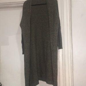 Long knit kimono with pockets